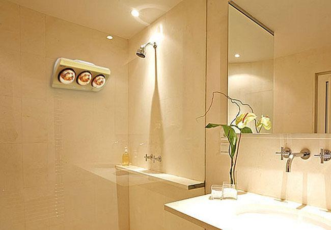 Đèn sưởi nhà tắm Kottmann K3B-G 3 bóng vàng