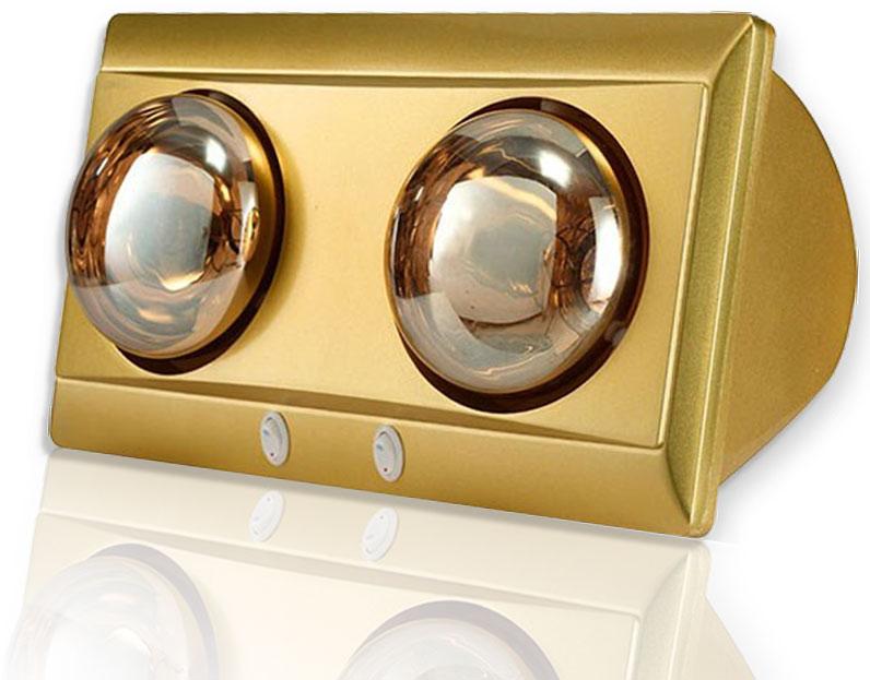 Đèn sưởi nhà tắm Kohn Eco KD02G 2 bóng mạ vàng giảm chói