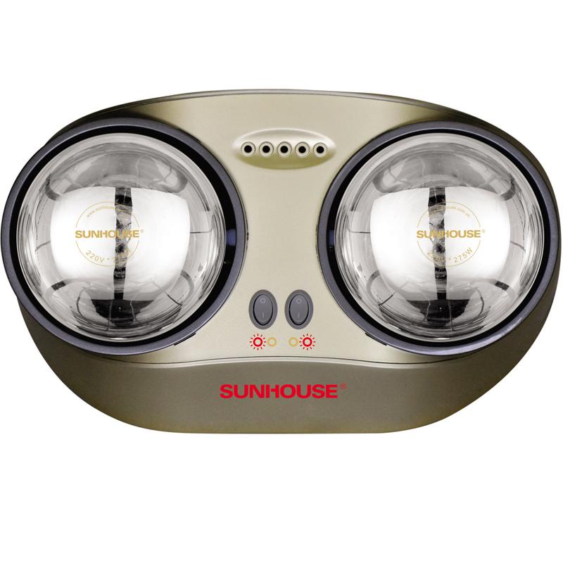 Đèn sưởi nhà tắm Sunhouse SHD3822 2 bóng trong suốt giảm chói chính hãng