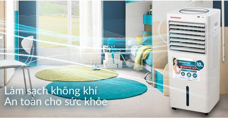 Quạt điều hòa giúp lọc không khí rất tốt