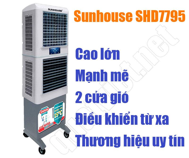 Quạt điều hòa - máy làm mát không khí Sunhouse SHD7795