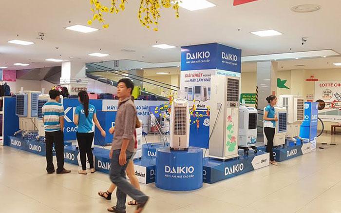 Quạt điều hòa Daikio tham gia hội chợ triển lãm