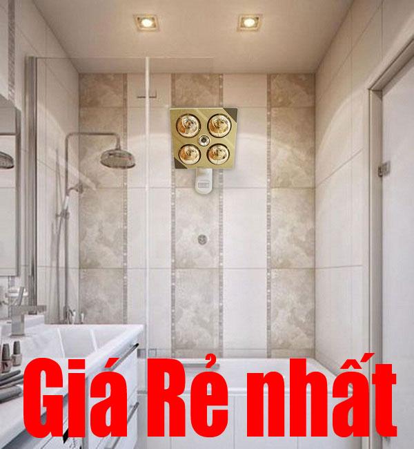 Đèn sưởi nhà tắm Kottmann K4B-G 4 bóng vàng treo tường