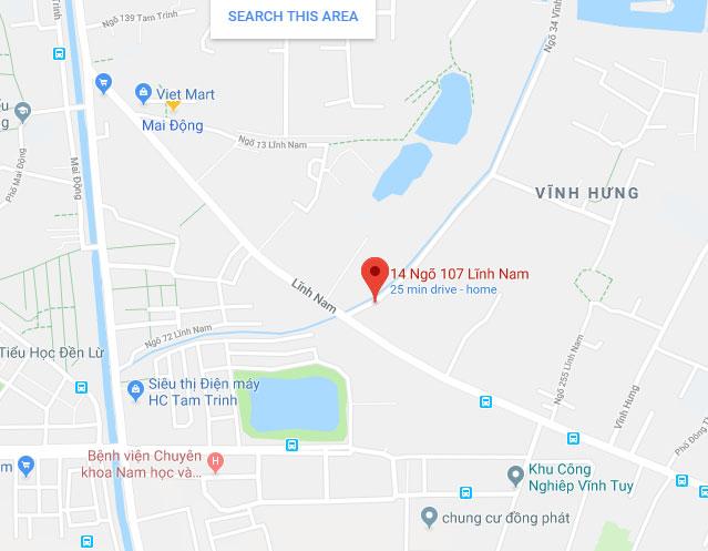 Số 14 ngõ 107 Lĩnh Nam Hoàng Mai Hà Nội