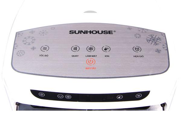 Bảng điều khiển chức năng của quạt điều hòa Sunhouse SHD7713