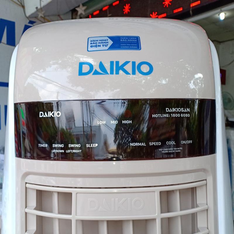 Quạt điều hòa Daikio dK-3500B bảng điều khiển