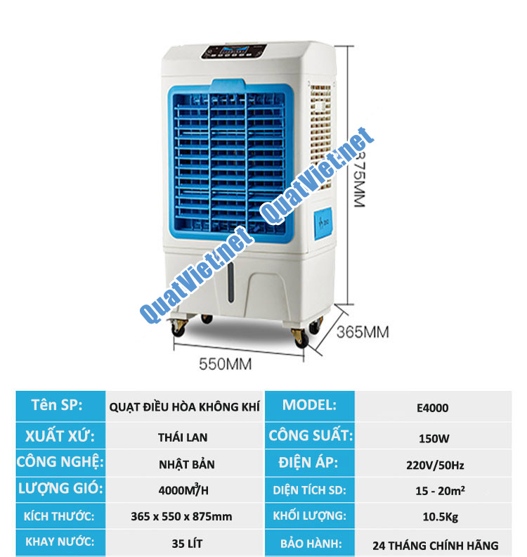 Quạt điều hòa làm mát không khí Akyo E4000