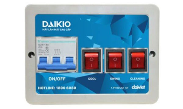Máy làm mát không khí Daikio DK-18000TX/TL/TN có công tắc dung tiện ích