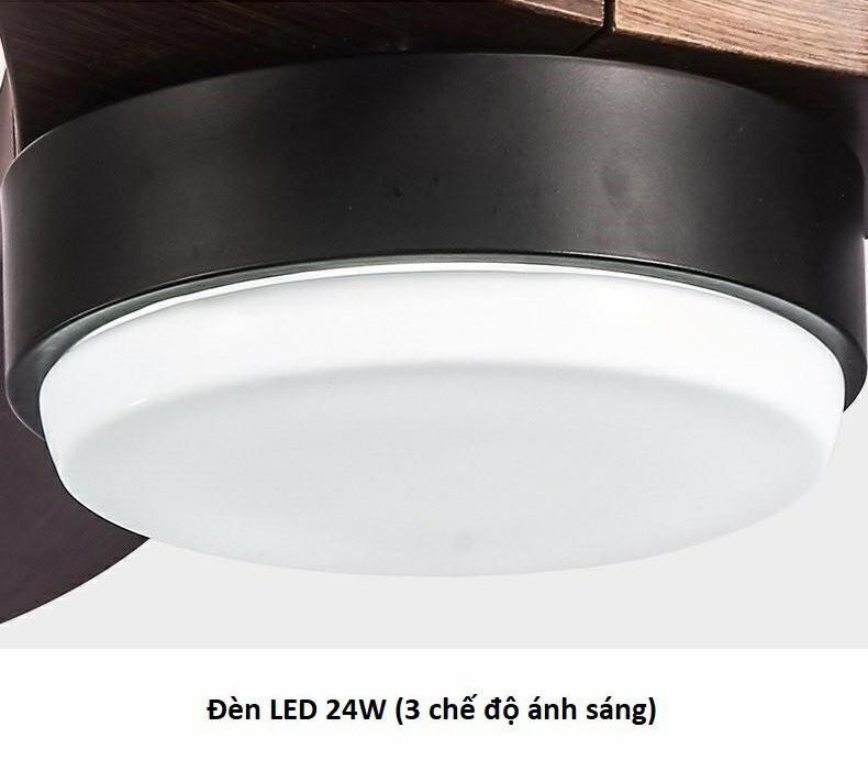 Đèn LED 24w với 3 chế độ ánh sáng
