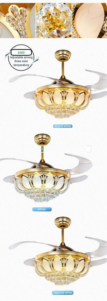 quạt trần đèn breezelux 9305 khi bật cả quạt và đèn