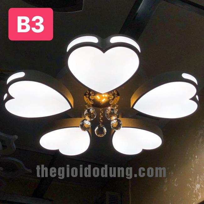 Đèn LED ốp trần trang trí B2 5 trái tim