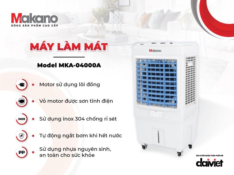 Tính năng của quạt điều hòa - Máy làm mát Makano MKA-04000A