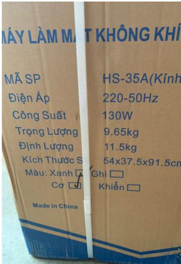Thông số Quạt điều hòa hơi nước giá rẻ HS-35A